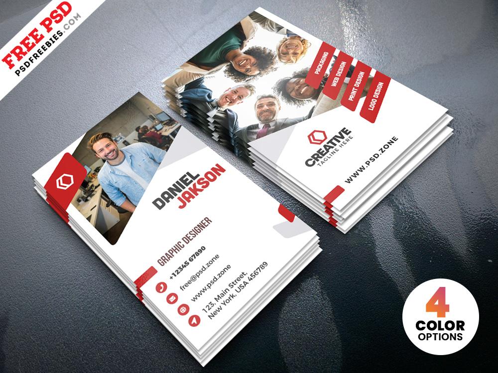 Free Vertical Creative Business Card PSD