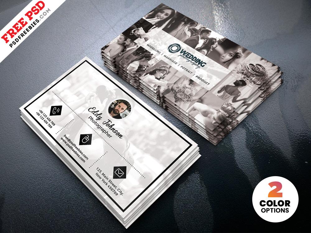 Free Wedding Photographer Business Card Design PSD