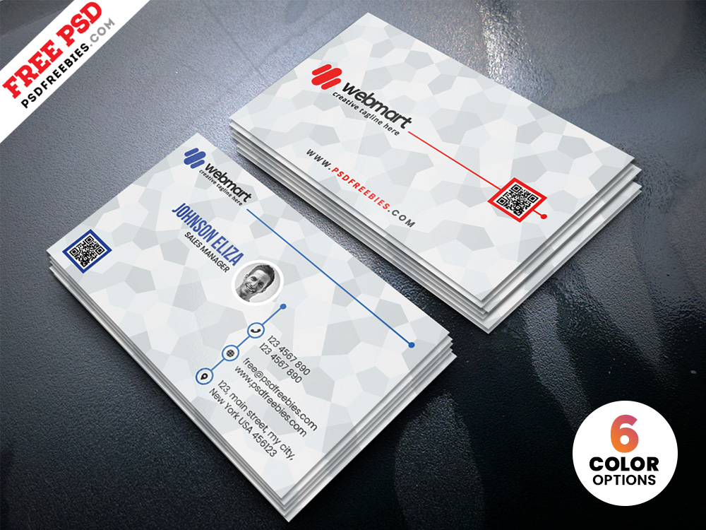Free Clean Simple Business Card Templates PSD