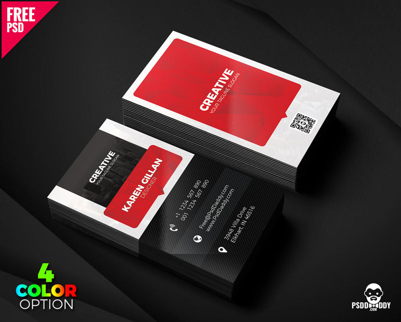 Free Creative Business Card Template PSD Set