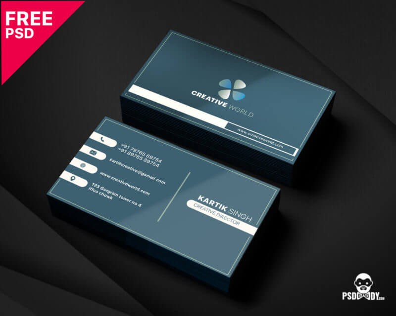 Free Modern Corporate Business Card Template