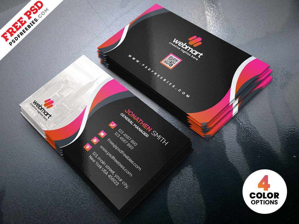 Free Corporate Business Card PSD Templates