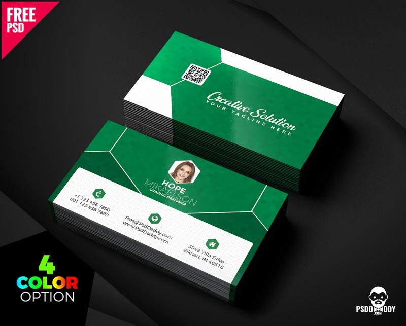 Free Classic Business Card PSD Bundle