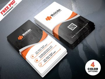 Free Vertical Business Cards Templates PSD