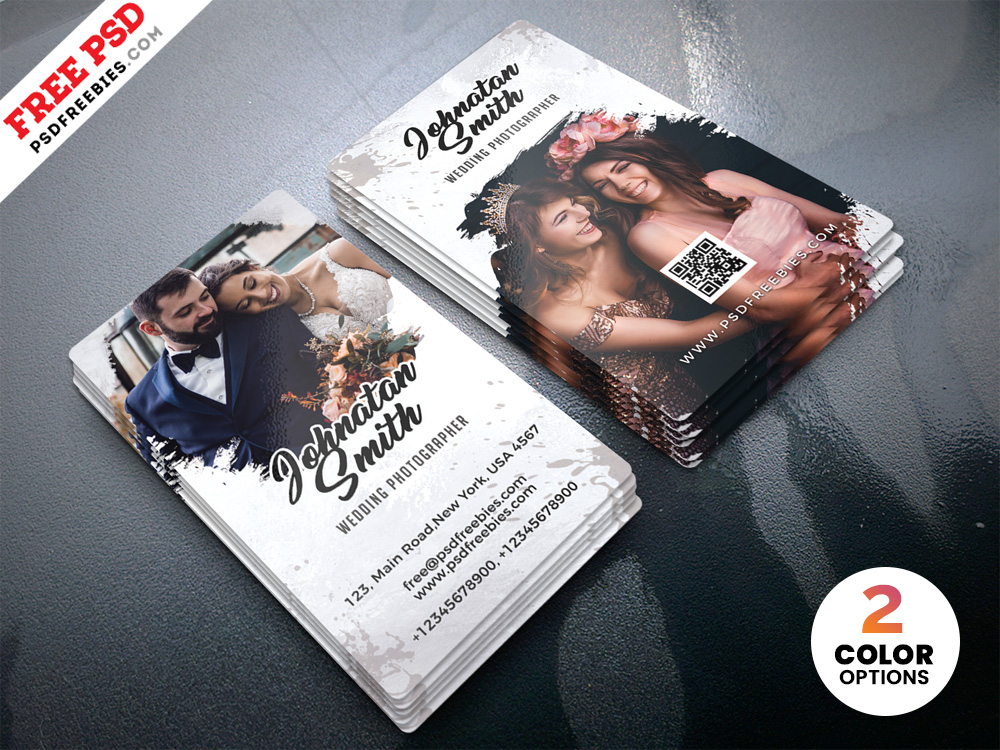 Free creative PSD Wedding Photographer Business Card