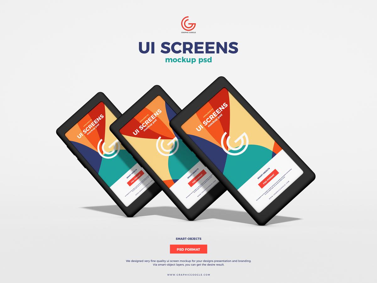 Free UI Screens Mockup PSD 2019