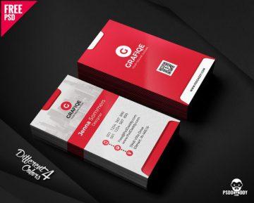 Free Creative Business Card Template PSD Bundle