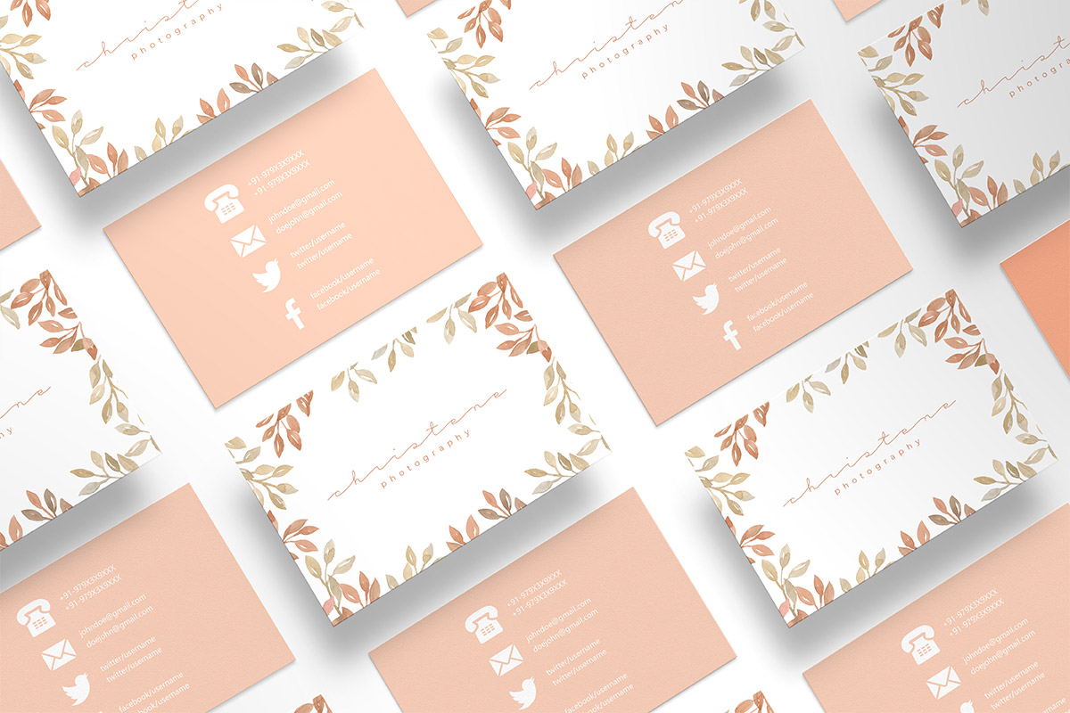 Free Floral Photography Business Card Template