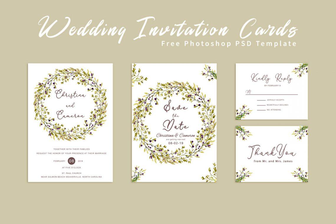 Free Wedding Invitation Card Template
