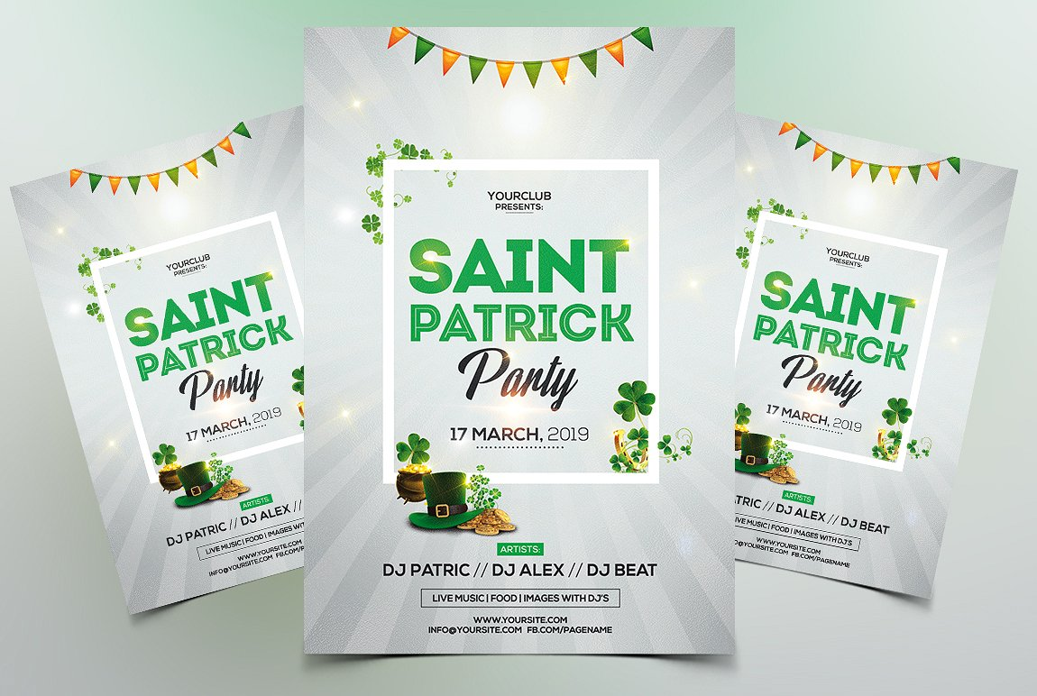 St. Patricks Premium PSD Flyer Template