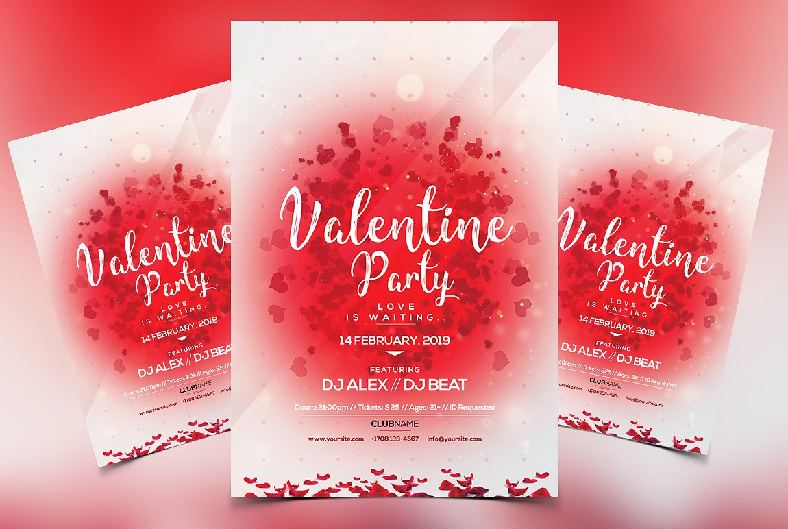 Valentine's Invitation - Premium PSD Flyer
