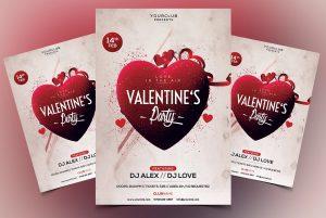 Valentine's Party Premium PSD Flyer Template