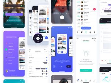 Free UI kit with 12 ready-made app screens