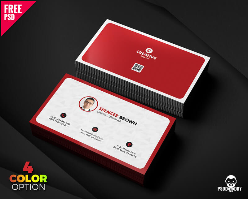 Free Business Card Set PSD Design
