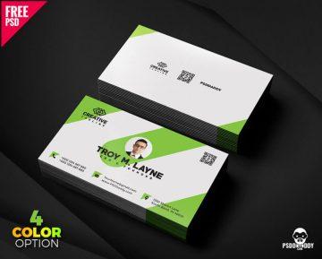 Free Business Card Template PSD Bundle