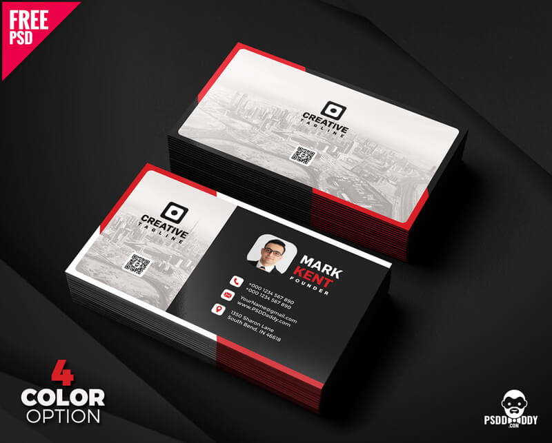 Free Creative and Clean Business Card PSD Bundle