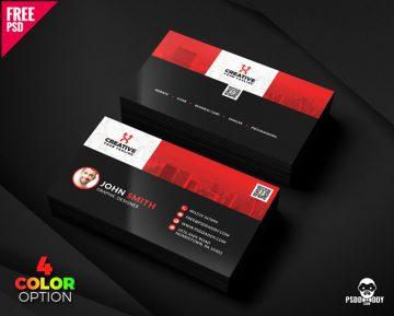 Free Clean Business Card Templates PSD Bundle