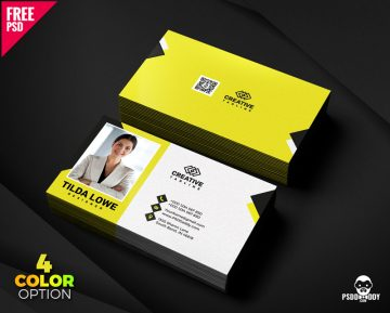 Free Business Card Template PSD Bundle