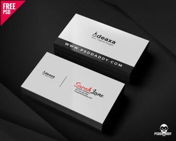 Free Simple Corporate Business Card Design PSD