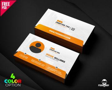 Free Creative Business Card PSD Set