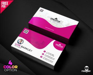 Free Business Card Design Templates Set
