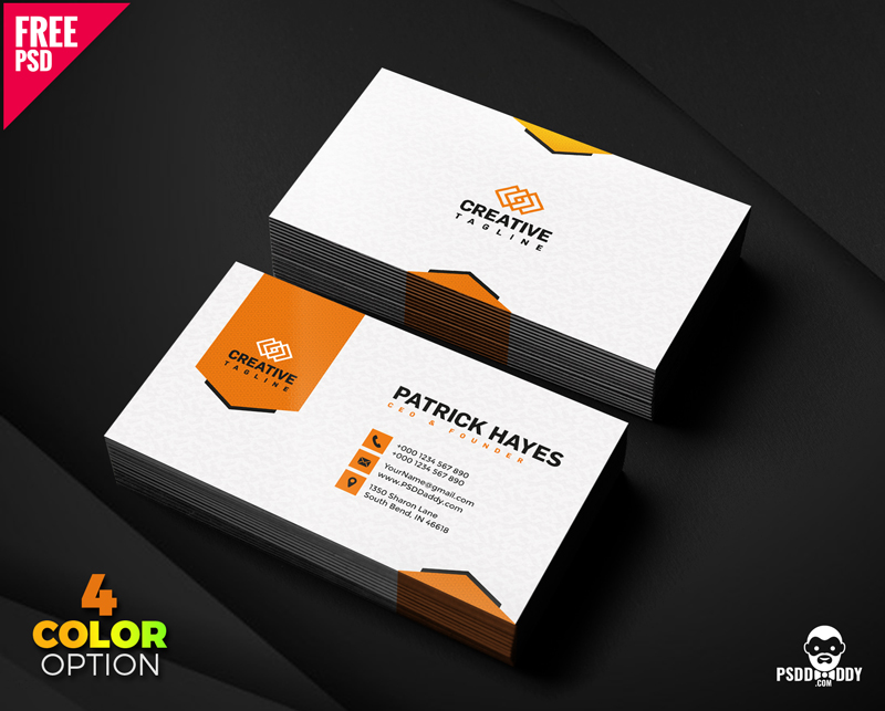 Free Business Card Design PSD Set