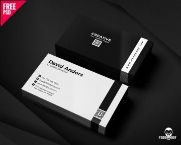 Free Simple Business Cards PSD