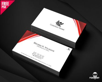 Free Corporate Business Cards Design PSD