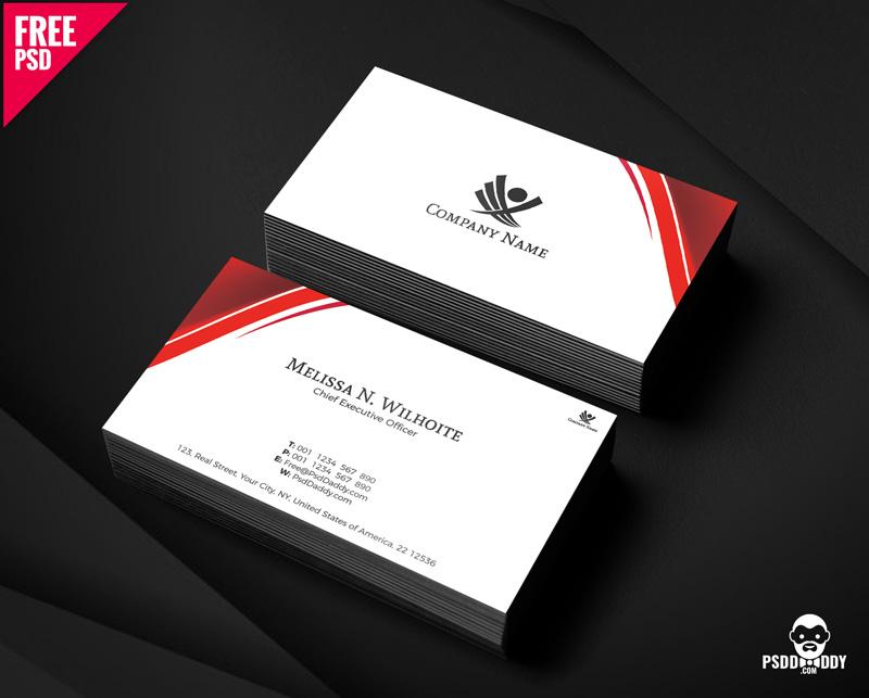 Free Corporate Business Cards Design PSD