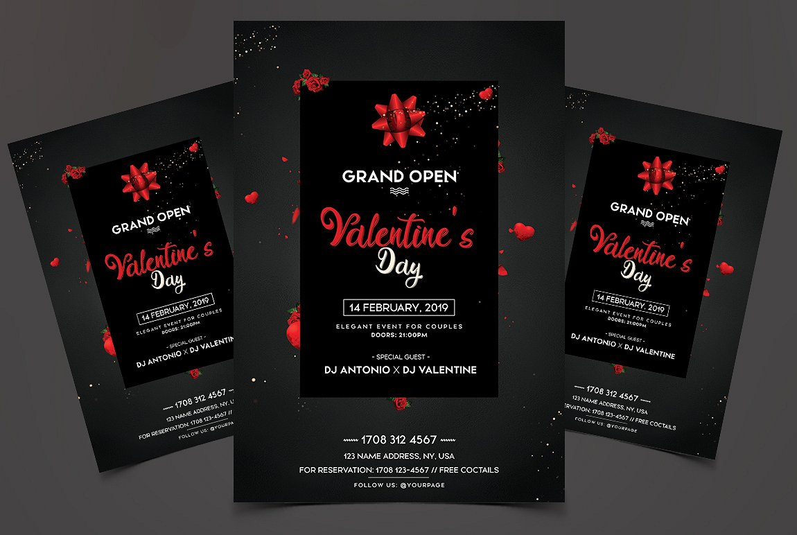 Valentine's Day Grand Open - Premium Flyer
