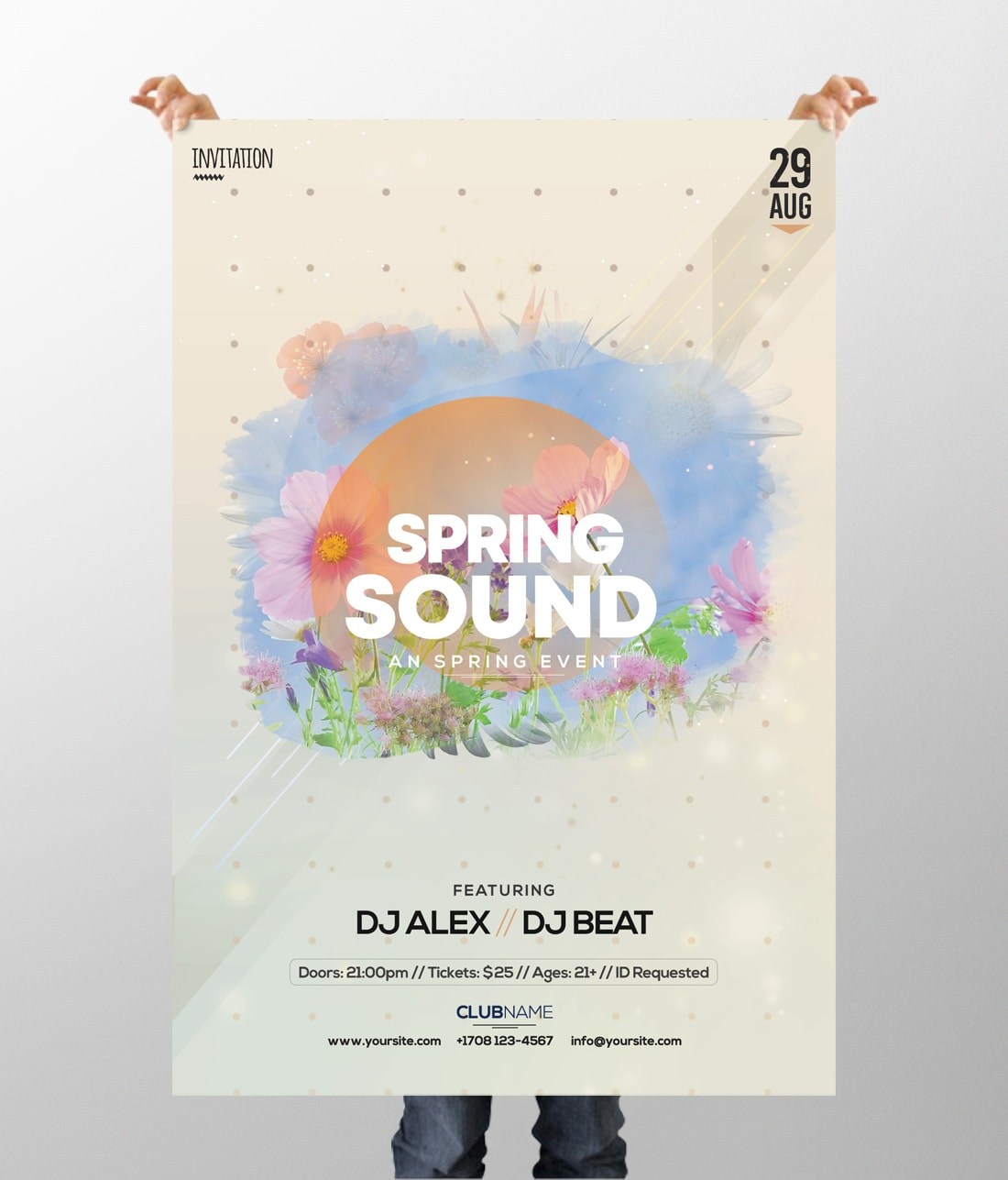 Spring Sound PSD Free Flyer Template