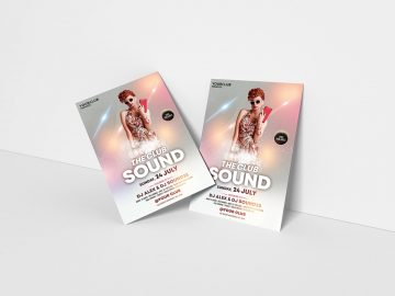 The Club Sound PSD Free Flyer Template