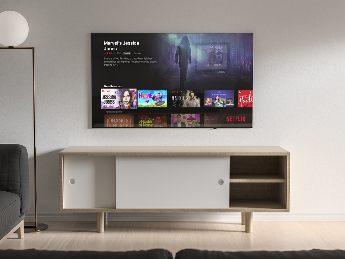 Free Modern TV Mockup