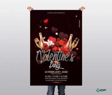 Free Valentine's Event PSD Flyer Template
