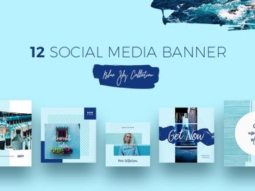 Free Blue Sky Social Media Templates