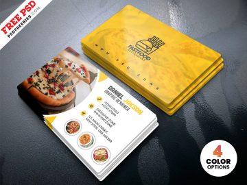 Free PSD Restaurant Business Card Design Templates