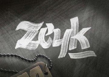 Free Zeyk Brush Typeface Font