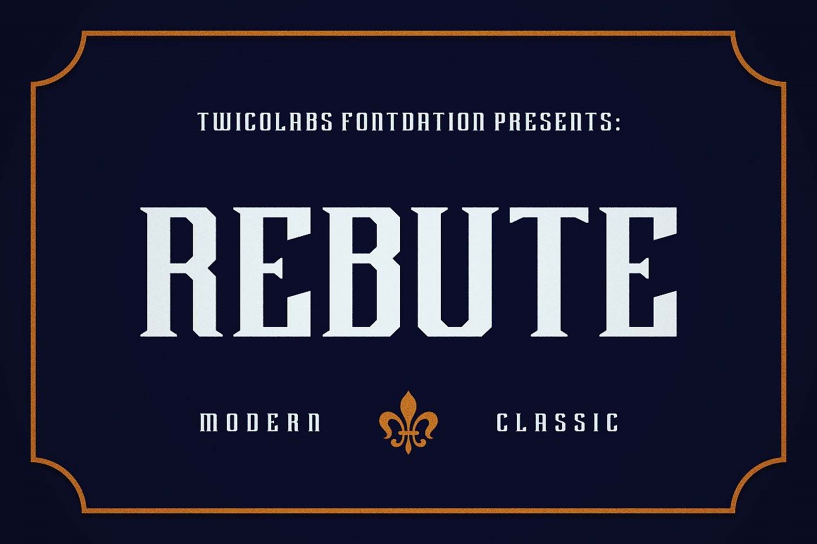 Free Rebute Typeface Font.
