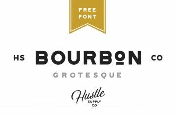 Free Bourbon Grotesque Font