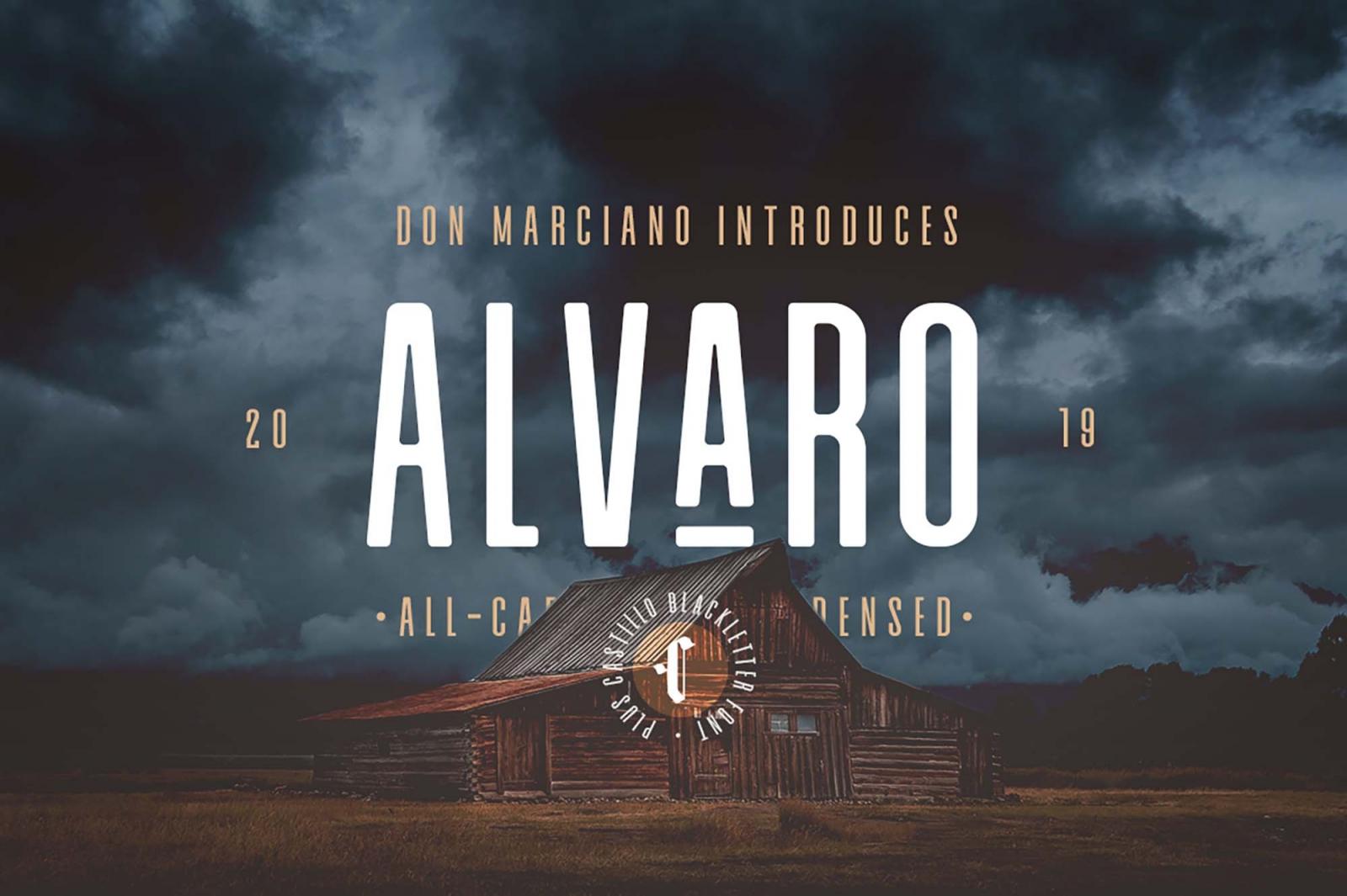 Free Alvaro Condensed Font