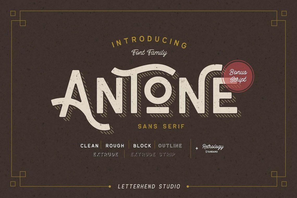 Free Antone Family Font.