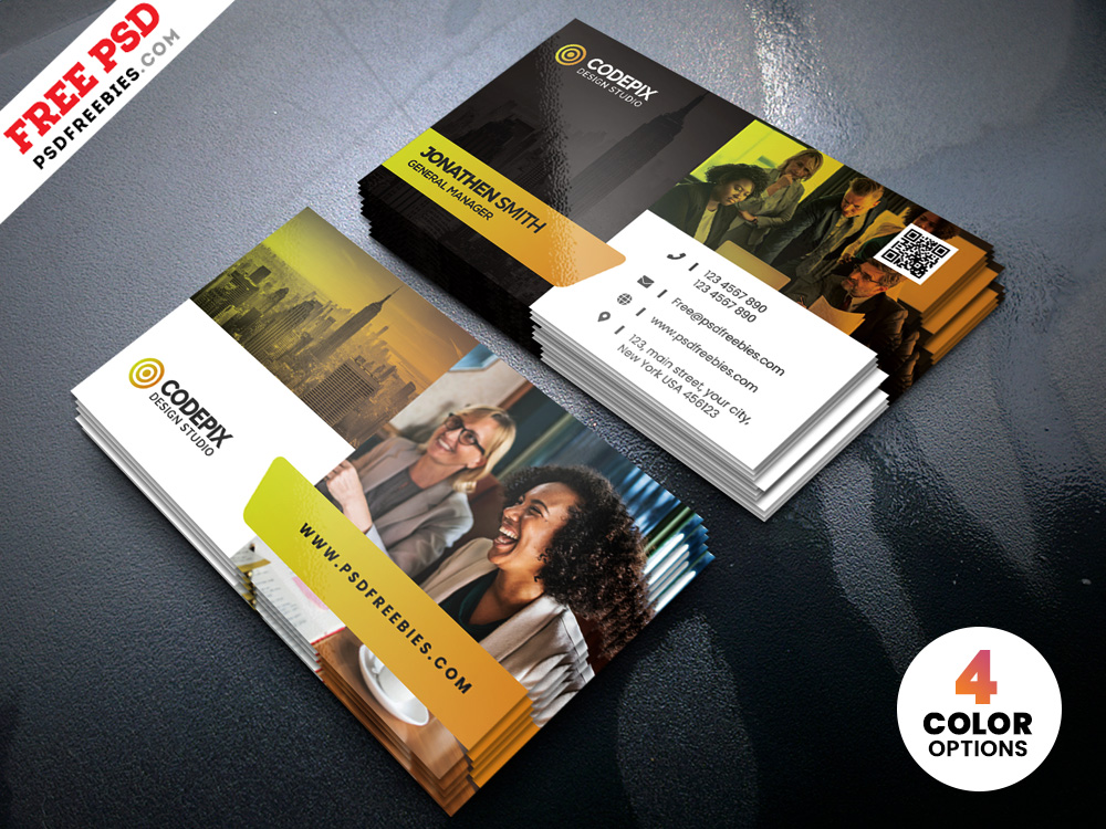Free PSD Creative Business Cards Design Template
