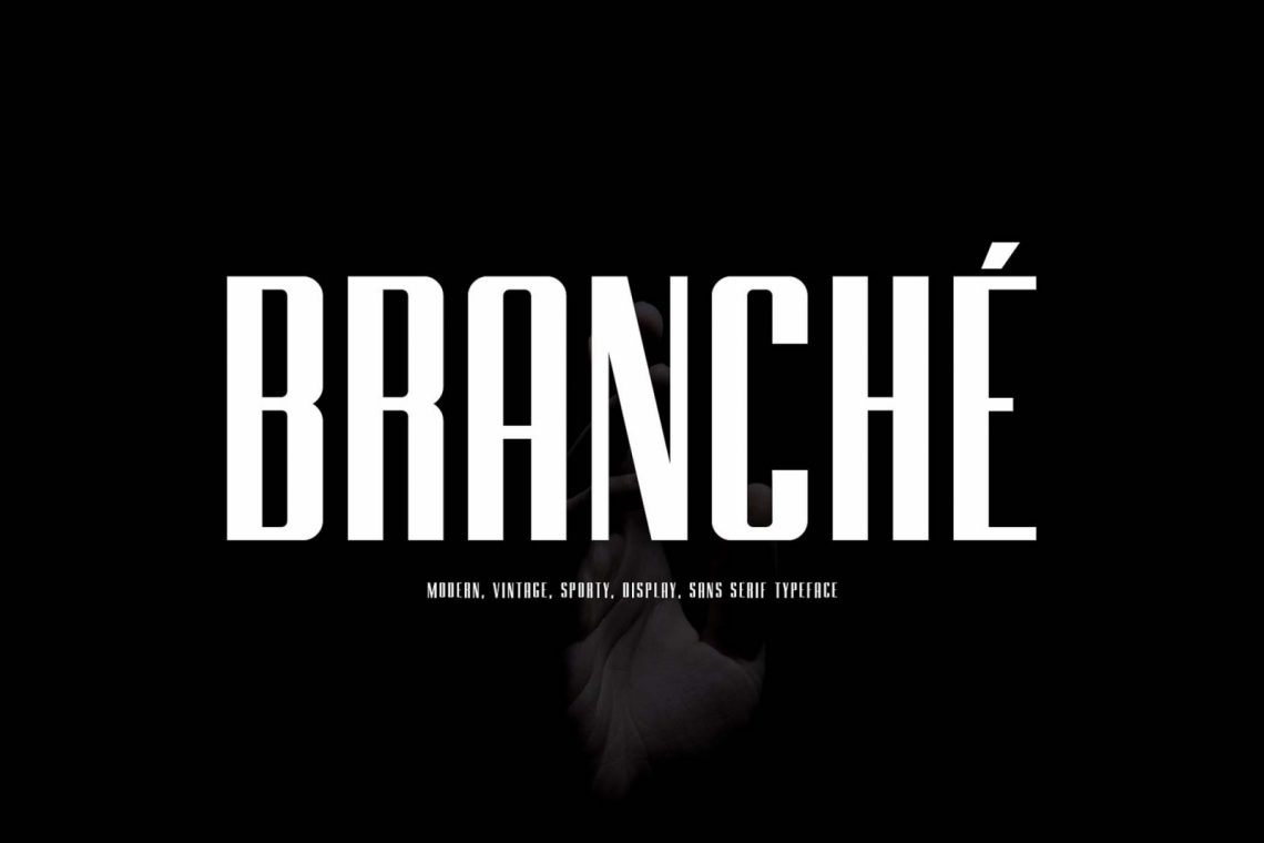 Free Branche Typeface Font.