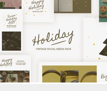 Free Holiday Templates for Instagram & Facebook