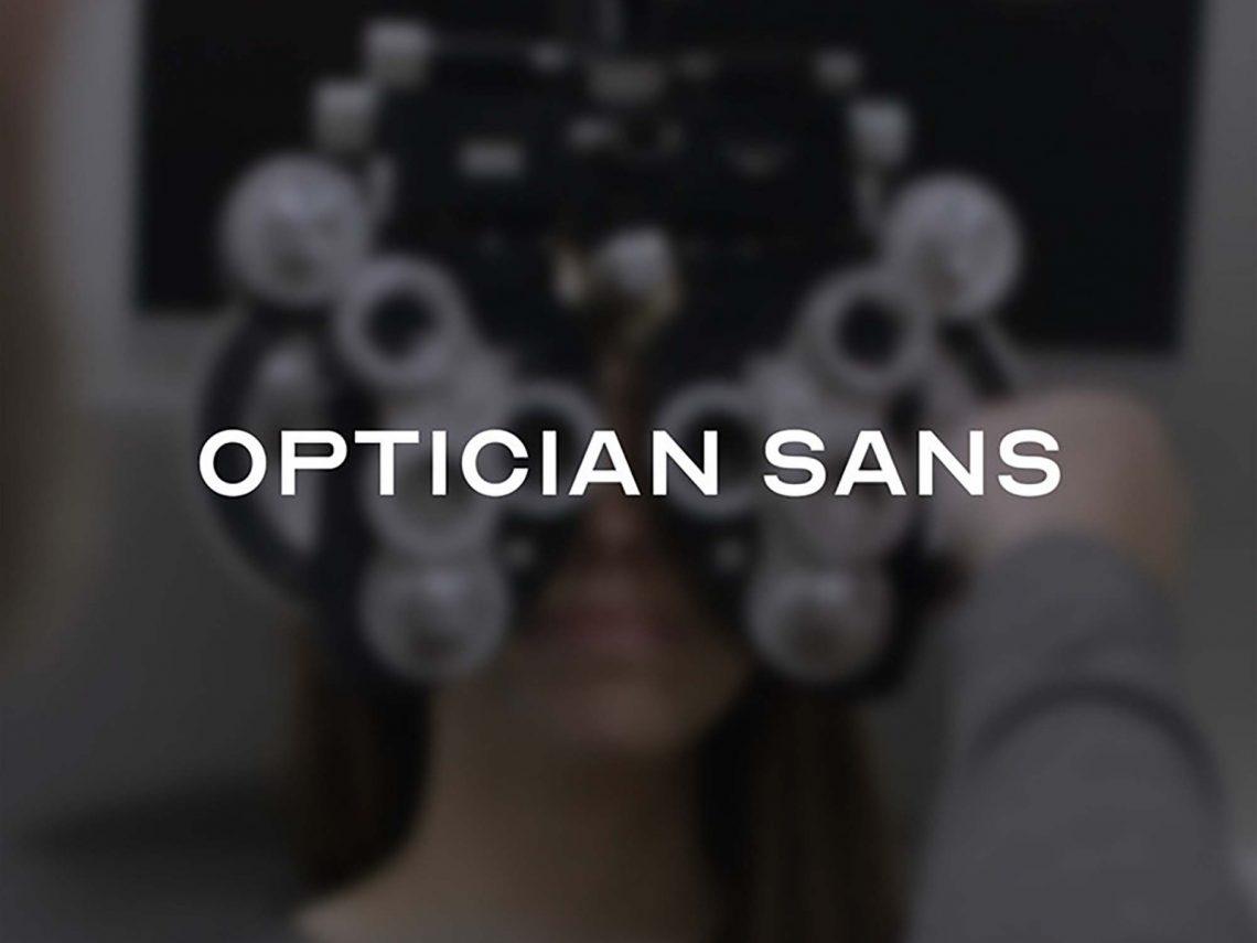 Free Optician Sans Font.