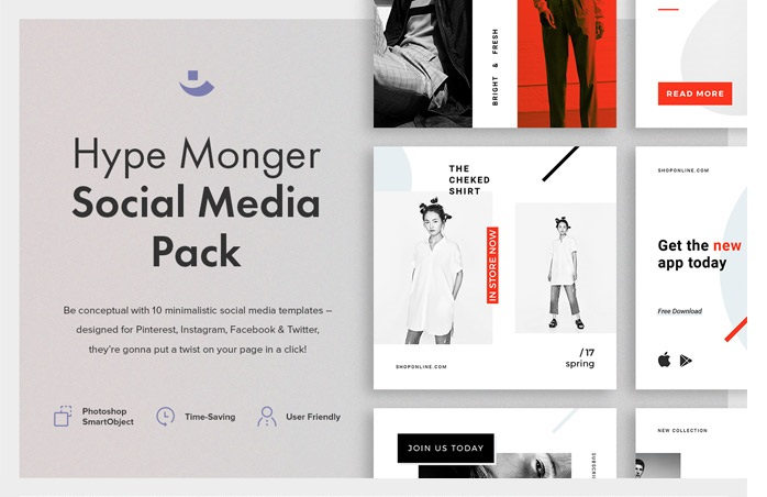Free Hype Monger Social Media Pack