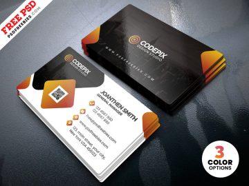 Free PSD Modern Corporate Business Card Templates