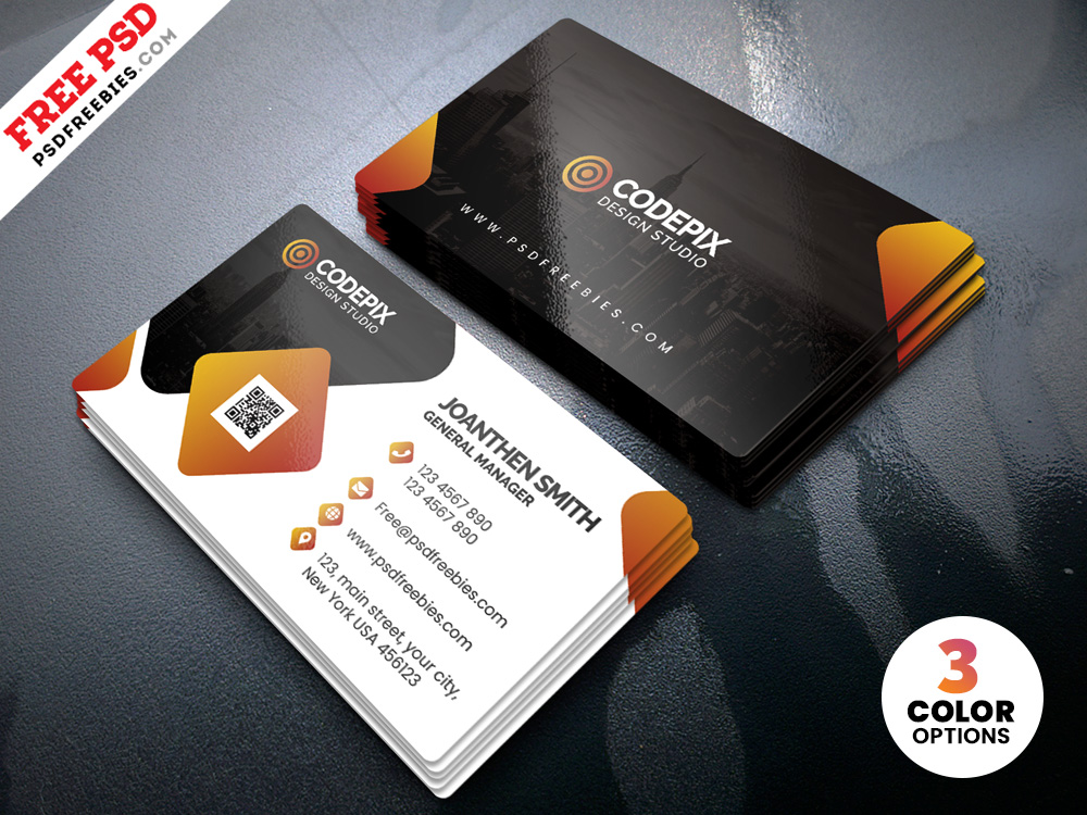 Free PSD Modern Corporate Business Card Templates.