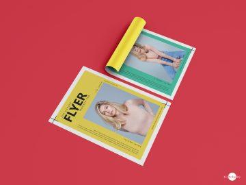 Free Branding Flyers Mockup Design For Presentation