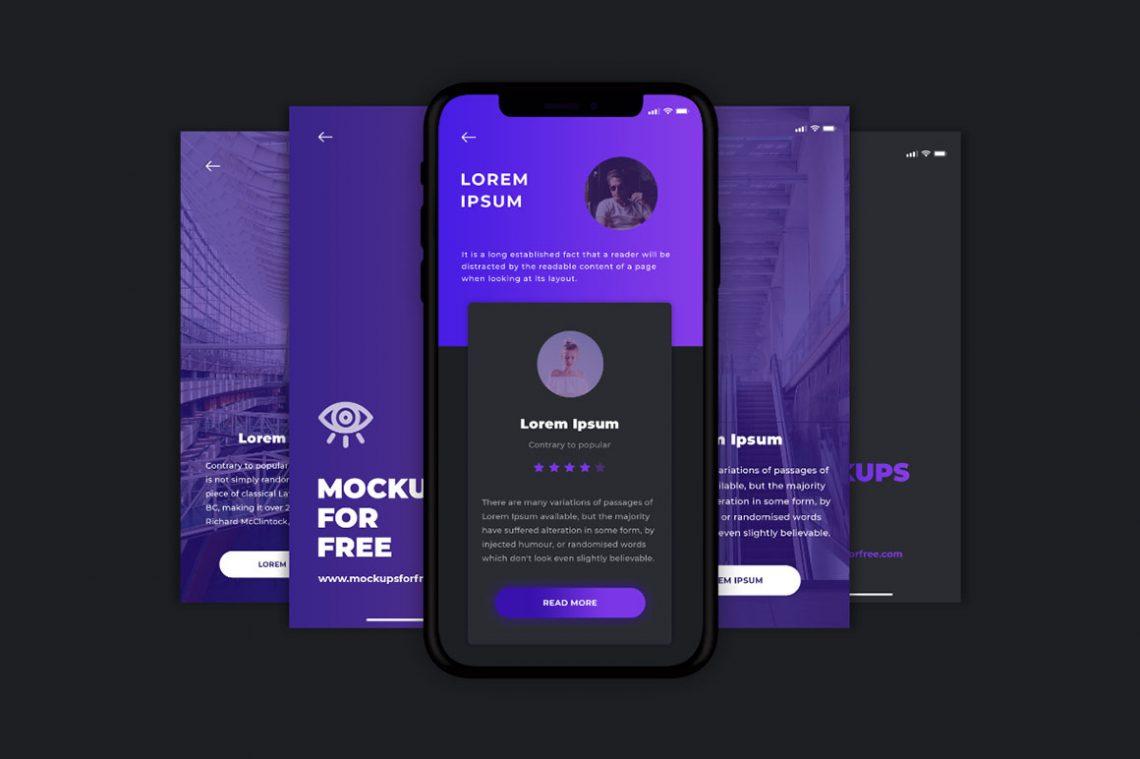Free App Screen Mockup.